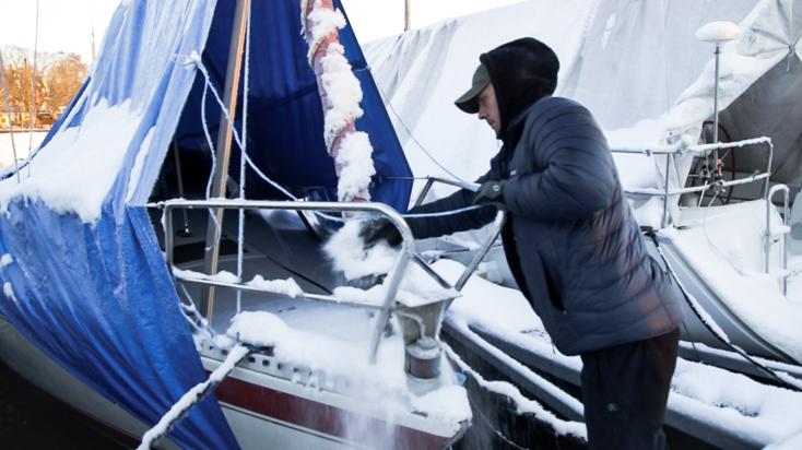 Båten vår Vilje nedsnødd