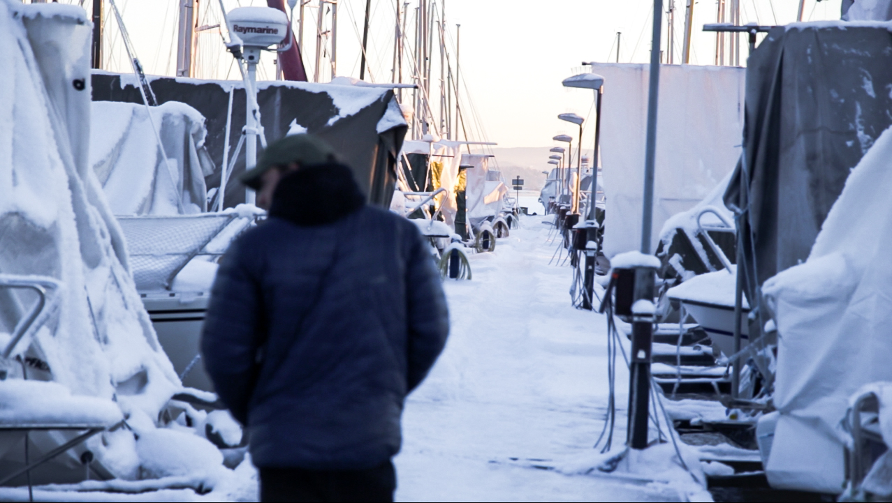 Vinter båthavn